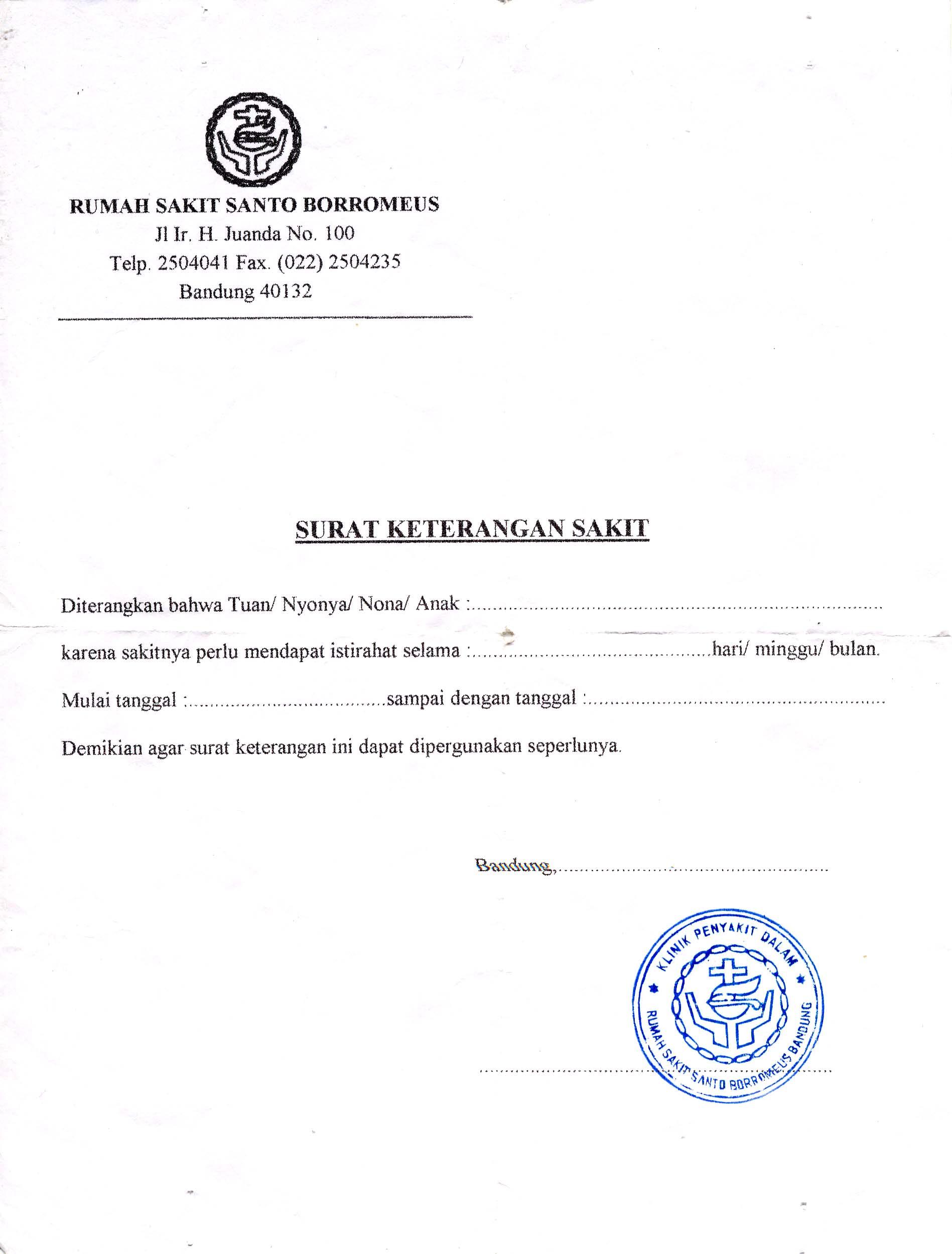 Surat Dokter Abgi Robbi Rodhiya